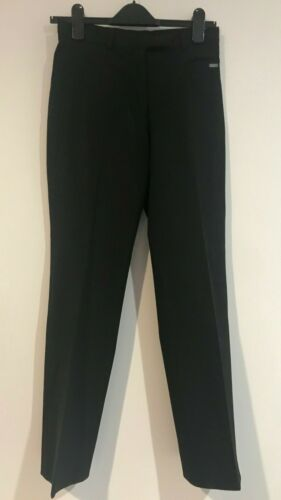 TED BAKER BLACK STRAIGHT PANTS SZ 2 (AU 10) WORK / CORPORATE / OFFICE / EVENING