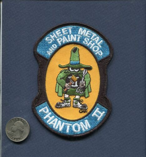 F-4 PHANTOM Sheet Metal Paint USAF McDonnell Fighter Squadron Maintenance PatchAir Force - 48823