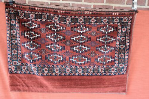 Genuine Older Turkoman Saddle Bag Hand Knotted Rug 3.6x2.6