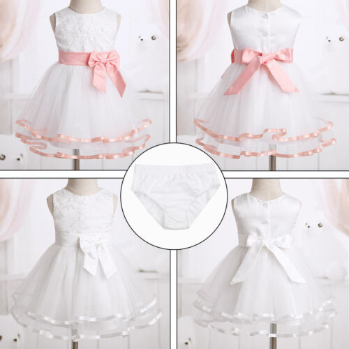 a3973077efe Toddler Flower Girl Princess Dress Party Wedding Baptism Formal Tutu Gown  Brief
