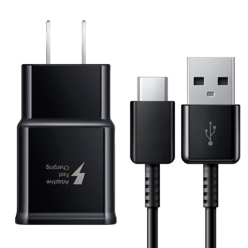 Original Samsung Galaxy S10 S9 S8 Note 8/9 Fast Charging USB Wall Charger +USB-C