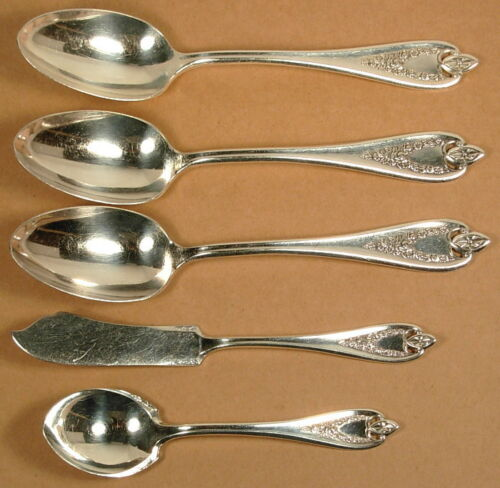 OLD COLONY 1847 ROGERS SILVERPLATE TABLESPOONS SUGAR SPOON BUTTER KNIFE
