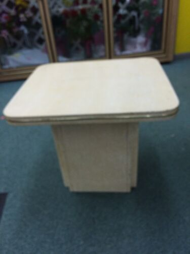 Vintage Mid Century modern Plant stand End table ivory gold art deco retro