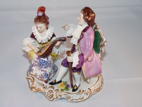 Vintage Volksttedt Germany Courting Couple figurine