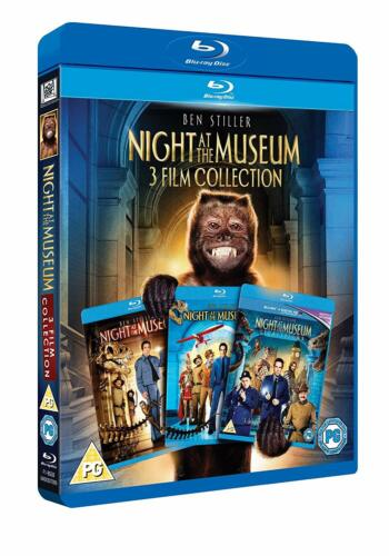 """NIGHT AT THE MUSEUM TRILOGY BEN STILLER 3 DISC BOX SET BLU-RAY RB """"NEW&SEALED"""""""