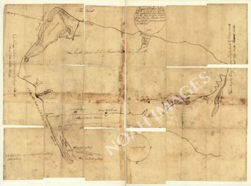 Map of Queens Village NY c1781 repro 32x24