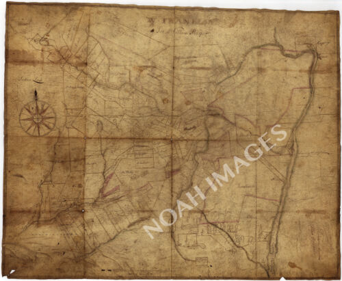 A Portion of New York c1700s map 29x24