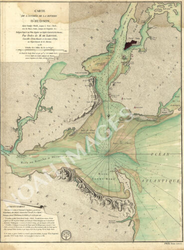 Map of entrance to Hudson River c1778 map 18x24