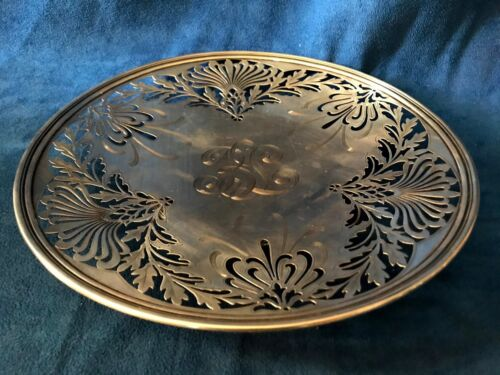1907 Nouveau Sterling Silver Whiting Manufacturing Reticulated Platter