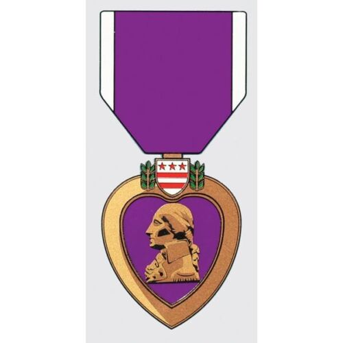 PURPLE HEART COMBAT WOUNDED MEDAL STICKER - DECAL - MADE IN THE USA!!Stickers & Decals - 104022