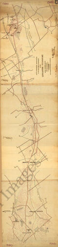 Map of a reconnaissance to Philadelphia c1863 map 9.5x36