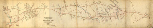 Map of a reconnaissance to Philadelphia c1863 36x7.5