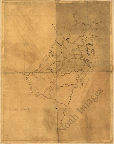 Land in Red Stone and Fort Pitt c1780 map 24x30