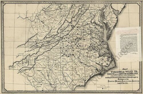 Map of WV and VA c1876 24x36