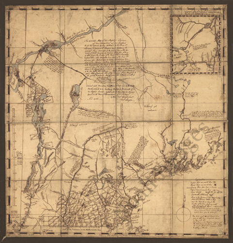 Province of New Hamshire c1756 map 24x25