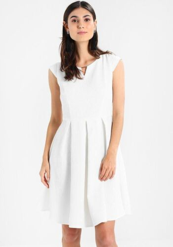 Carolina Cavour White Day Dress Size M Fit And Flare