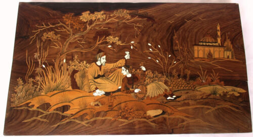 Wood Inlay - Lovers Picture, Wall Hanging, Marquetry Art
