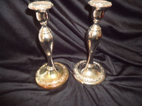 "Oneida Royal Provincial Silverplated 9"" Candlesticks - 1 Pair"