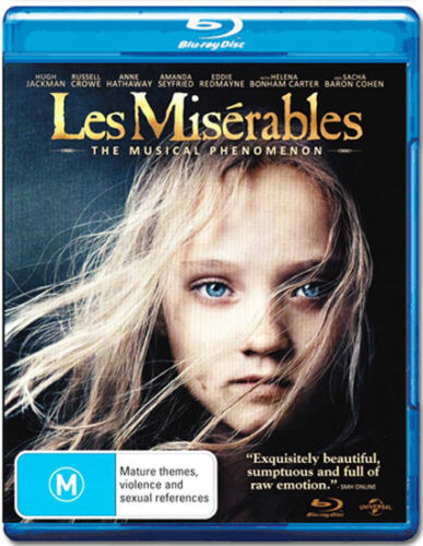 LES MISERABLES New Blu-Ray HUGH JACKMAN RUSSELL CROWE ***