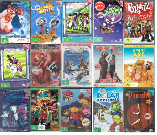 Ex Rental DVD Kids and Family Movies - Region 4