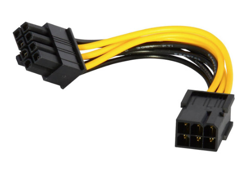 ➔ HP 6 pin (female) to 8 pin (male) Genuine Graphics Card Power Cable 460621-003
