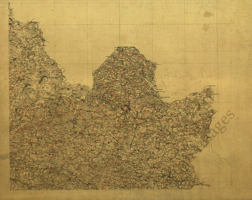 Map of King George County Virginia c1864 24x30