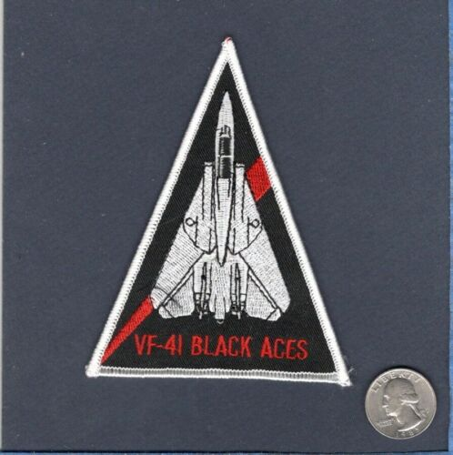VF-41 BLACK ACES US NAVY F-14 TOMCAT Fighter Squadron Triangle Shoulder PatchNavy - 48826