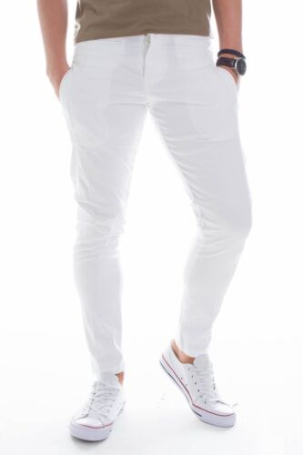 PRIMO EMPORIO WHITE COTTON TROUSERS SIZE L / XL - W37 MADE IN ITALY  RRP 89 €