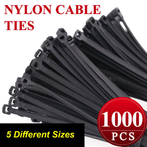 1000x UL Approved 4.8 x 300mm Purple Nylon Cable Ties