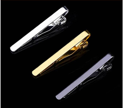 Mens Tie Clip Pin Bar Metal Wedding Business Party Gold Silver Black - OZ STOCK