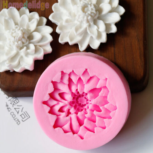3d Flower Silicone Fondant Cake Mould Decorating Chocolate Baking Mold Tool