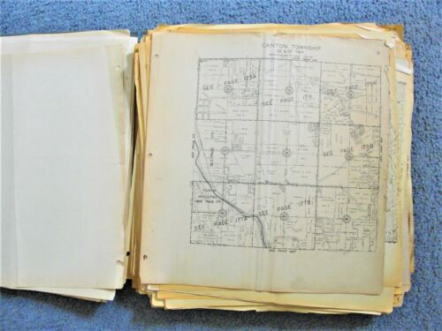 1950s/60s- Set of (300+) Reproduction Maps of Stark County, Ohio: owners' lots.