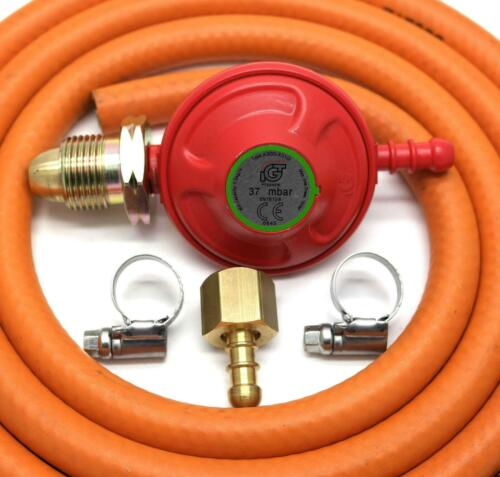 Flogas Unbranded 2 Clips Fits Calor Patio Gas Regulator 27Mm Clip On With 1M Hose