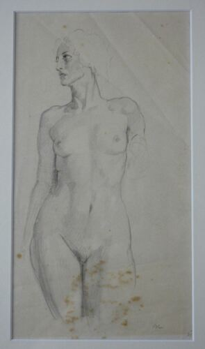 """NORMAN LINDSAY original drawing titled """"nude study"""" comes with COA"""