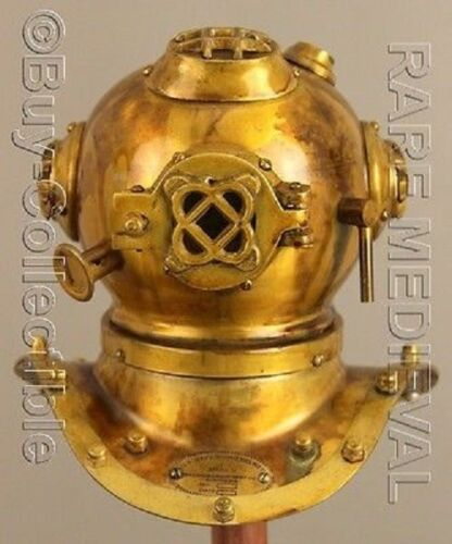 US Navy Mark V Steel Nautical Marine Mini Diving Divers Helmet Deep Replica