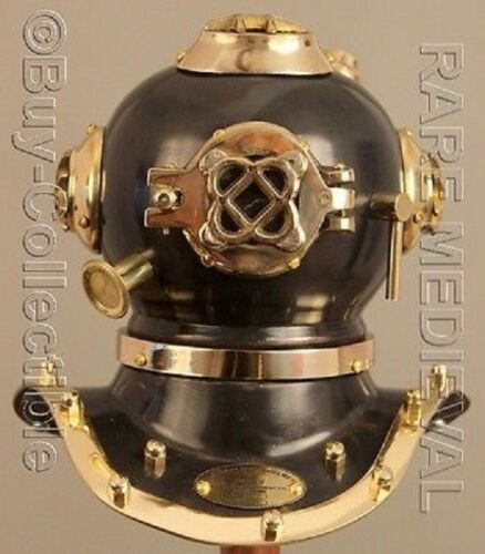 Nautical Marine US Navy Mark V Steel Divers Helmet Deep Mini Diving Replica