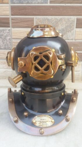 US Navy Mark V Vintage Divers Helmet Deep Mini Diving Steel Marine Replica Gift