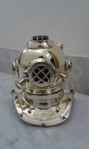 Mark V Vintage Divers Helmet Deep Mini Diving Steel & Brass Marine Replica Gift