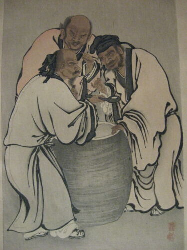 Wow! VINTAGE JAPANESE WOODBLOCK PRINT **Rich and Compelling!**