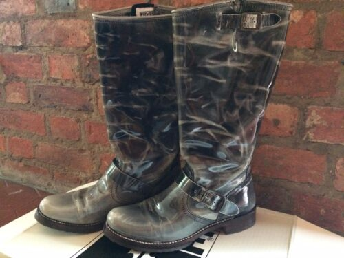 Frye Boots Tall Veronica Slouch Biker / Engineer Boots US 10 /  UK 7.5 Boxed