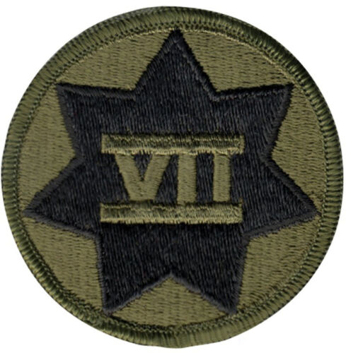 Subdued US Army 7th Corps Insignia PatchPatches - 36078
