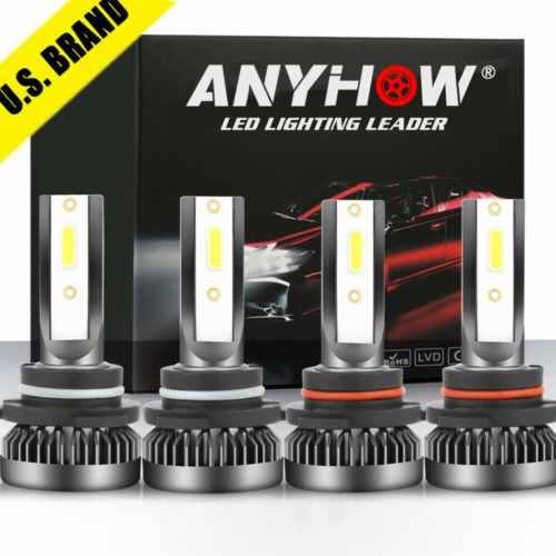 9005+9006 Combo LED Headlight 240W 30800LM High/Low Beam 6000K White 4 Bulbs Kit <br/> Best Price√Super Bright√Plug and Play√C.E DOT√US Seller