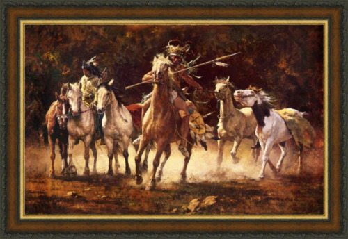 Howard Terpning THE CAPTURED PONIES, giclee canvas (ARTIST PROOF) A/P#19/20