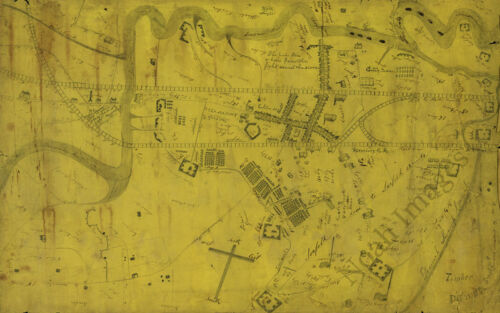 Map of the siege of Suffolk Virginia c1863 23x15