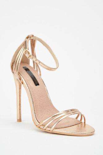 Rose Gold Barely There Faye Sandal by Lost Ink UK5  EU38 BRAND NEW  RRP £36