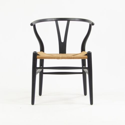 Vintage Hans Wegner Carl Hansen Denmark Wishbone Dining Chair Black