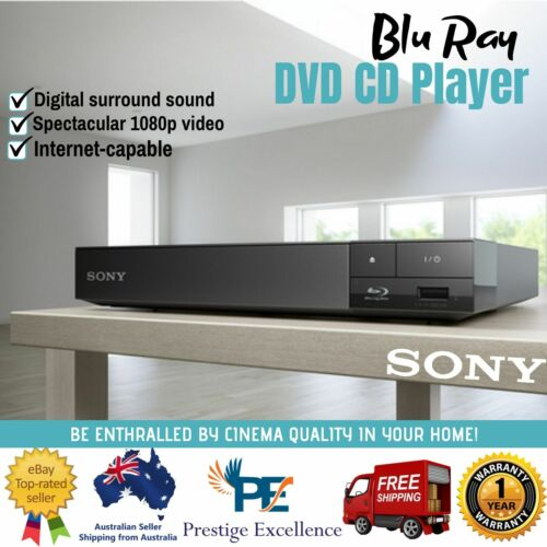New Sony Blu Ray DVD CD Disc Player TRILUMINOUS Full HD USB Quickstart BDP-S1500