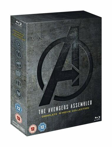 """THE AVENGERS ASSEMBLED COMPLETE COLLECTION 1-4 BOX SET 5 DISC BLU-RAY RB """"NEW"""""""