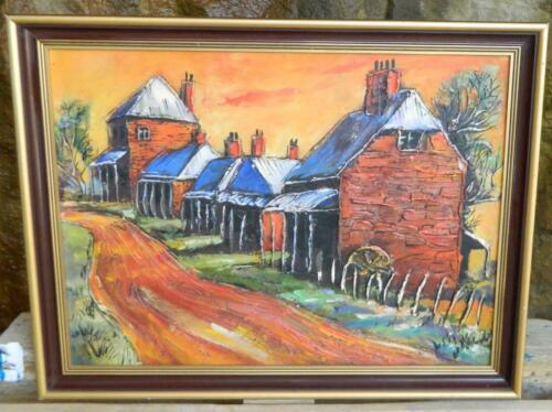 VINTAGE Australian Outback Red Dirt  Scene Painting