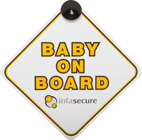 NEW InfaSecure Baby On Board Sign from Baby Barn Discounts